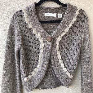 Anthropologie Sleeping on Snow Alpaca Cardigan