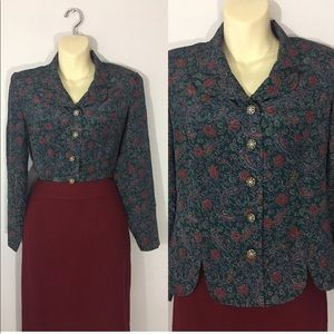 1980s button up blouse