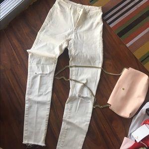 Zara cream jeans