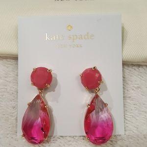 kate spade Pink Stone Drop Earrings