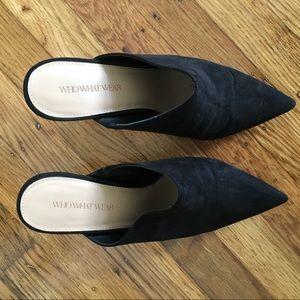 Shoes - Black Mules / Heels