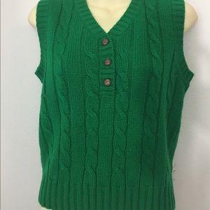 Green sweater vest