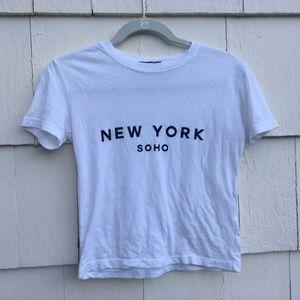 Brandy Melville New York Soho Short Sleeve Top
