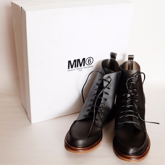 5c682416cd MM6 Maison Martin Margiela Shoes | Mm6 Sheer Laceup Ankle Boots 365 ...