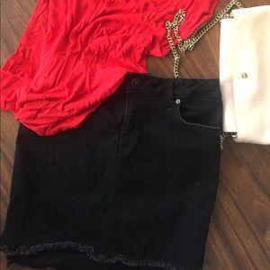Black H&M Jean skirt