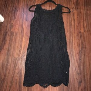 Black free people lace dress with slip