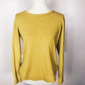 [LOFT]  yellow soft sweater small
