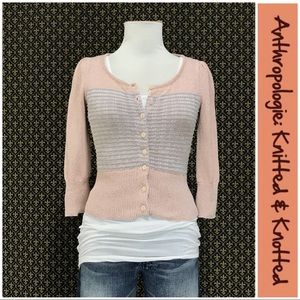 "Anthro ""Diamond Dust Cardigan"" by Knit & Knot"