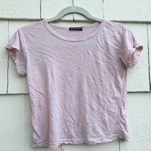 Brandy Melville Light Pink Short Sleeve Top