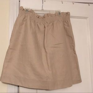 J. Crew tan skirt with pockets!
