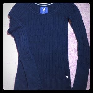 AE Outfitters Dark Navy Cable Sweater