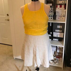 Tan LOFT A-line Skirt