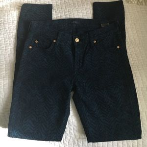 7 for all mankind patterned jeans