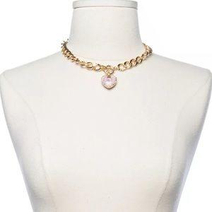 Jewelry - NEW Women's Gold Short Necklace Choker Chain Heart