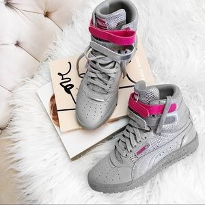 Puma pink gray contact sneakers