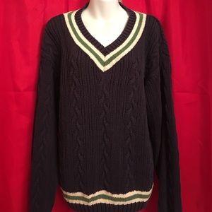 Old Navy M VNeck Boyfriend Varsity Sweater