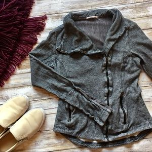 Anthropologie Motorcycle Style Sweater Jacket