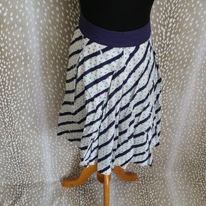 Anthropologie edme & esyllte Polka Dot Skirt Size