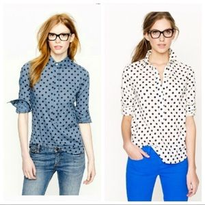 TWO J. Crew Popover tops