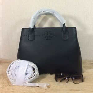 Tory Burch Black McGraw Triple-compartment Satchel