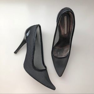 Stella McCartney Black Patent and Mesh Heels