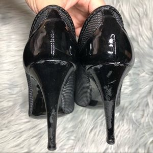 Stella McCartney Shoes - Stella McCartney Black Patent and Mesh Heels