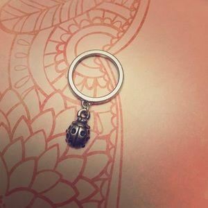 James Avery dangle ring w/lady bug charm