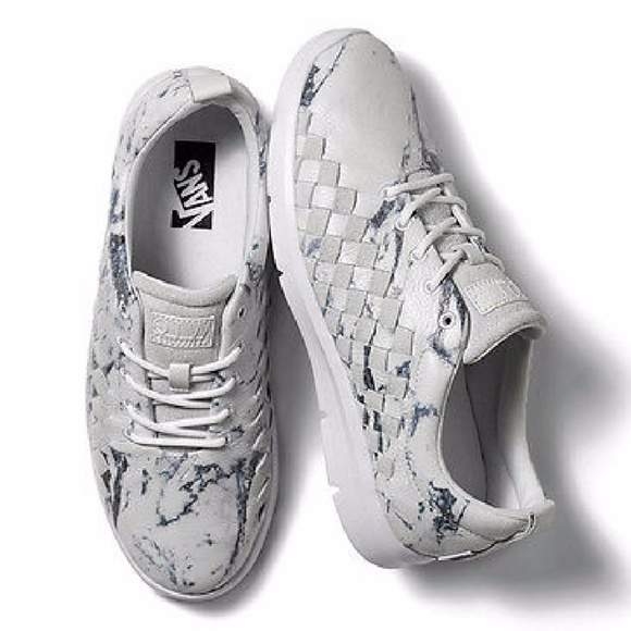 be2730816e Vans X Tesella Marble White Casual Leather Sneaker.  M 59ea7b14d14d7bf3f6010f92