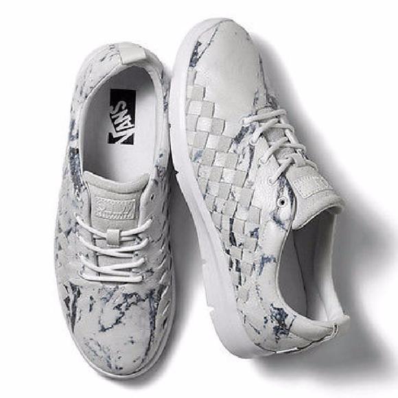 cc827a2c4c761c Vans X Tesella Marble White Casual Leather Sneaker.  M 59ea7b14d14d7bf3f6010f92