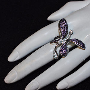 925 Sterling Silver Butterfly Ring  8.5