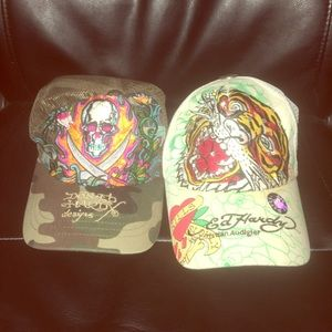 Two Ed Hardy SnapBack Hats 🎩