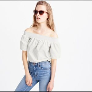 J Crew Off the Shoulder Top