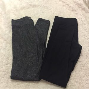 Aerie AEO legging set black and silver