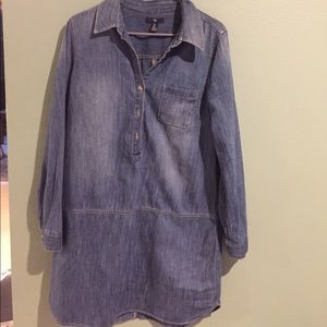 Gap denim shirt dress. Like new - worn 2 times.
