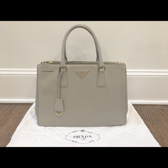 b8ecb598e29c Prada Bags | Grey Medium Saffiano Leather Tote | Poshmark