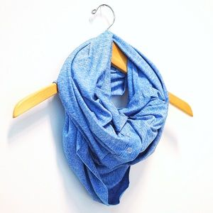 LuluLemon Vinyasa Scarf Foulard Wrap Blue EUC YOGA