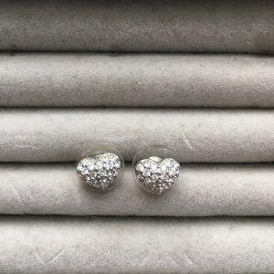 Swarovski Crystal Heart Studs