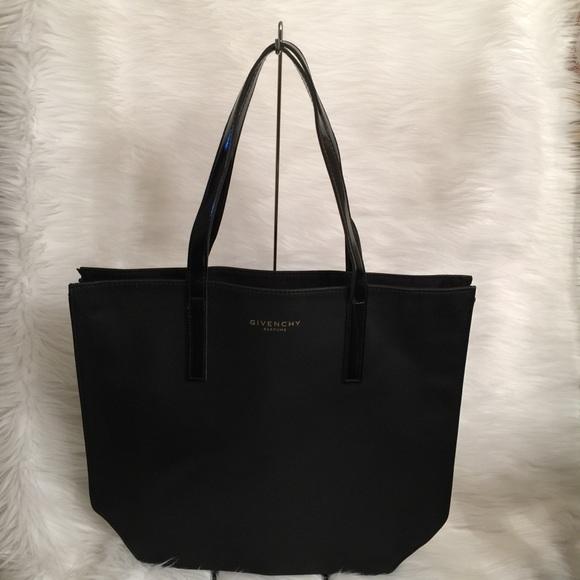 Givenchy Handbags - Givenchy Parfum Black Vinyl Double Strap Tote Bag 14c54235ef78d