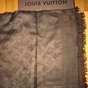 Louis Vuitton monogram scarf.