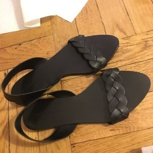 Zara braided flat sandals