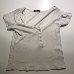 Brandy Melville White Shirt OS