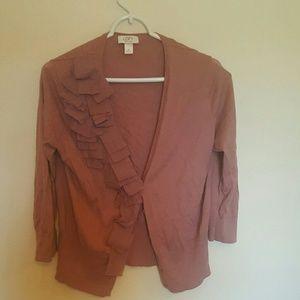Blush Ann Taylor loft Cardigan XL ($10)