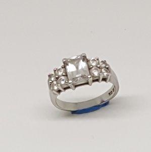 QVC Diamonique Sterling Silver Ring
