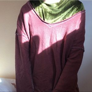 Urban outfitter oversized sweater dark red M