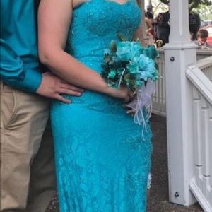 Prom Dress Size 12 Turquoise