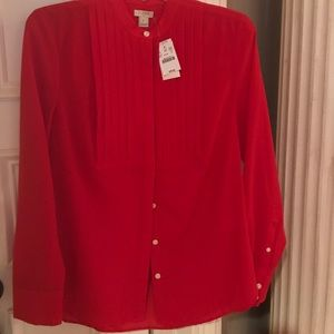 J. Crew polyester hidden button blouse