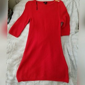 Bright Red H&M Knit Sweater Dress