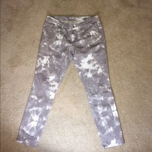 Express Ankle Pattern Jeans