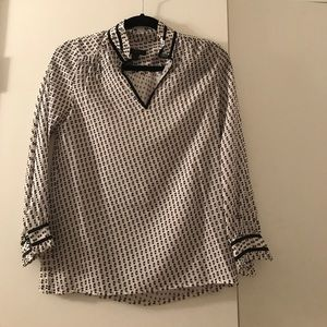 J. Crew swiss dot blouse