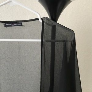 Brandy Melville Sheer Black Kimono